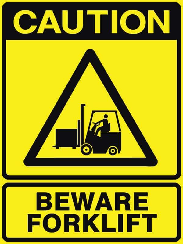 CB-2 Beware Forklift