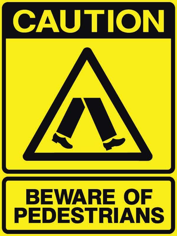 CB-23 Beware of Pedestrians