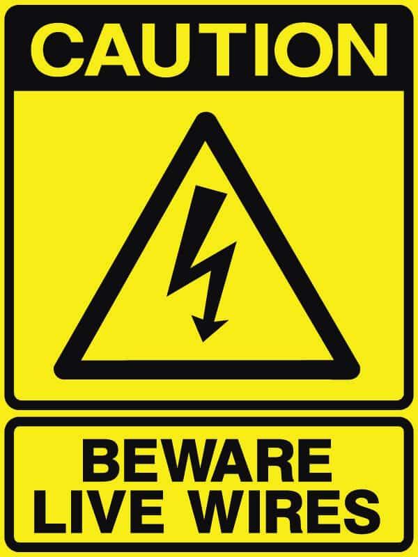 CB-34 Beware Live Wires