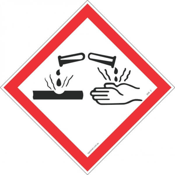 CORROSIVE GHS-C-Shop-Hazchem-Diamond-Signs-Signsmart
