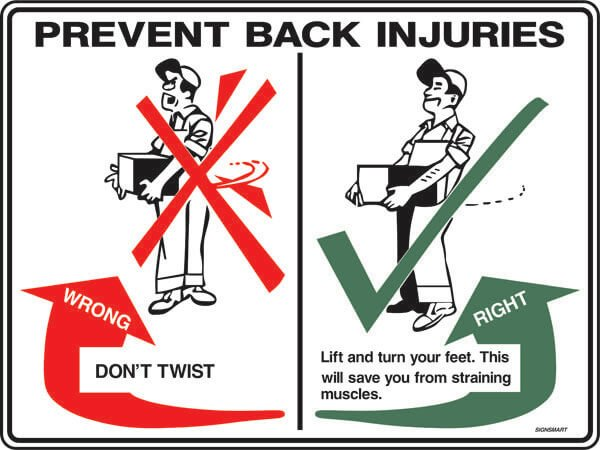 EMERGENCY SIGNS SS19-prevent-back-injuries