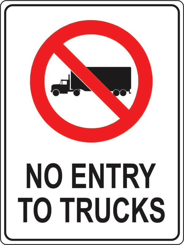 PS-1 no-entry-to-trucks
