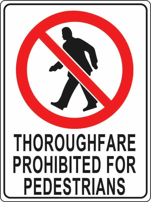PS-1 thoroughfare-prohibited
