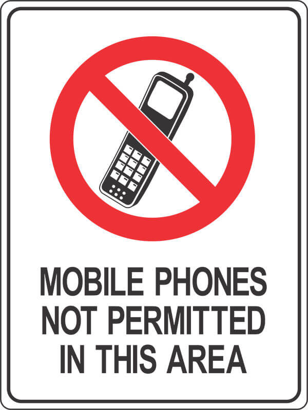 PS14 MOBILE PHONES-not-permitted- signsmart - signs