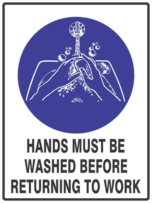 SM18 WASH HANDS - signsmart - signs