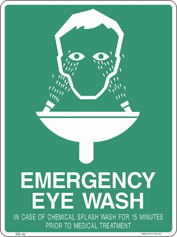 SS4A EYE WASH 15 MINS - signsmart - signs