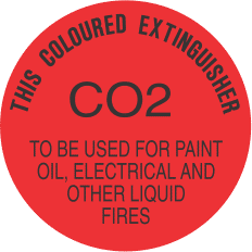 ELS4 CO2 CIRCLE - signsmart-this-coloured-extinguisher-co2-signs