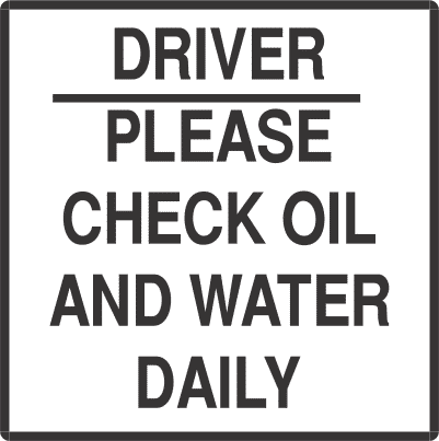 OWD - signsmart -driver-check-oil-and-water-signs